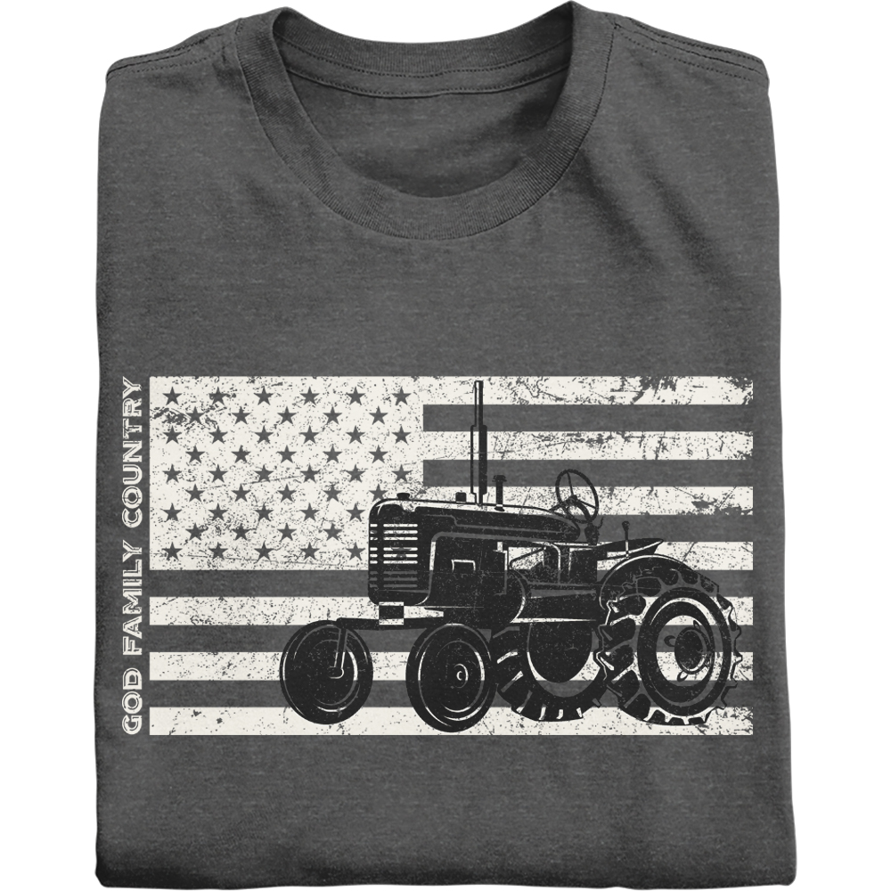 God Family Country vintage Patriotic Farmer Shirt