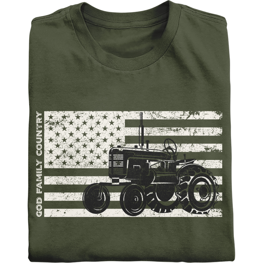 God Family Country vintage Patriotic Farmer Shirt